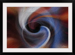 """Color Dissonance 2"" Framed Fine Art Expression"