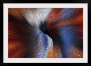 """Color Dissonance 5"" Framed Fine Art Expression"