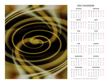 "Load image into Gallery viewer, ""Dimensional Paradox 5"" 17x22 inch 2021 Fine Art Calendar"
