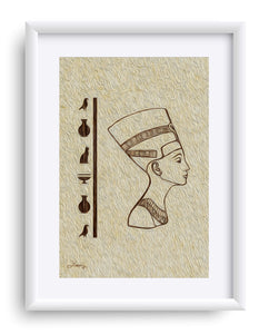 """Egyptian Queen"" Matted Fine Art Print"
