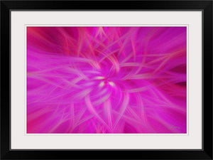 """Floral Imprint"" Framed Fine Art Expression"