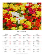 "Load image into Gallery viewer, ""Flowers Galore"" 17x22 inch 2021 Fine Art Calendar"