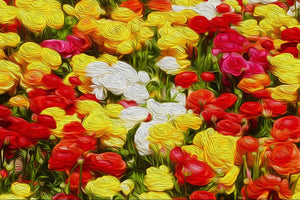 """Flowers Galore"" Fine Art Acrylic"