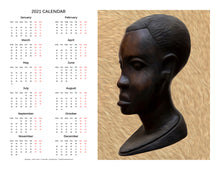 "Load image into Gallery viewer, ""Heritage 1 - African Man"" 17x22 inch 2021 Fine Art Calendar"