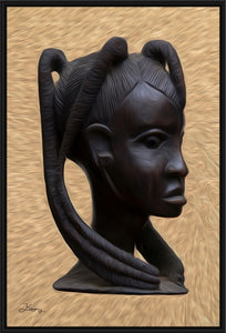 """Heritage 2 - African Woman Profile"" Fine Art Canvas"
