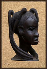 "Load image into Gallery viewer, ""Heritage 2 - African Woman Profile"" Fine Art Canvas"