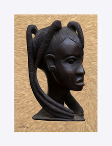 """Heritge 2 - African Woman"" Matted Fine Art Print"