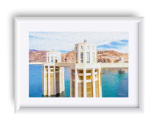 "Load image into Gallery viewer, ""Hoover Dam 1"" Matted Fine Art Print"