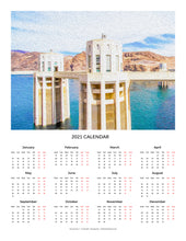 "Load image into Gallery viewer, ""Hoover Dam 1"" 17x22 inch 2021 Fine Art Calendar"