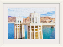 "Load image into Gallery viewer, ""Hoover Dam 1"" Framed Fine Art Expression"