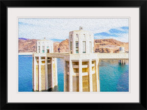 """Hoover Dam 1"" Framed Fine Art Expression"