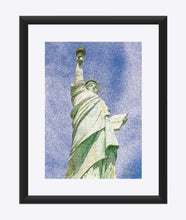 "Load image into Gallery viewer, ""Lady Liberty"" Matted Fine Art Print"