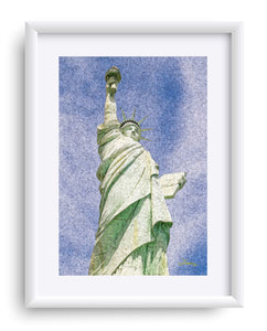 """Lady Liberty"" Matted Fine Art Print"