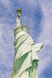 """Lady Liberty"" Fine Art Metal Print"