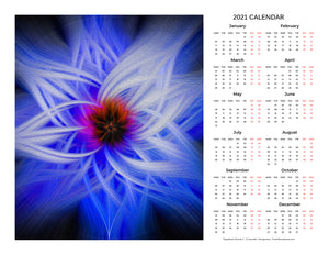 """Magnificent Wonder 1"" 17x22 inch 2021 Fine Art Calendar"