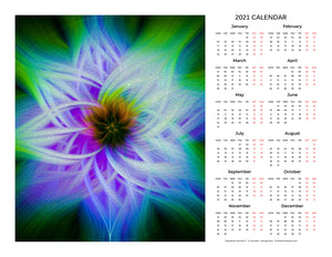 """Magnificent Wonder 2"" 17x22 inch 2021 Fine Art Calendar"