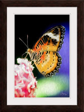 "Load image into Gallery viewer, ""Malay Lacewing Butterfly 1"" Framed Fine Art Expression"