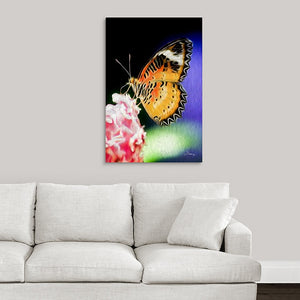 """Malay Lacewing Butterfly 1"" Fine Art Acrylic"