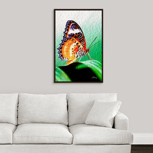"""Malay Lacewing Butterfly 2"" Fine Art Canvas"