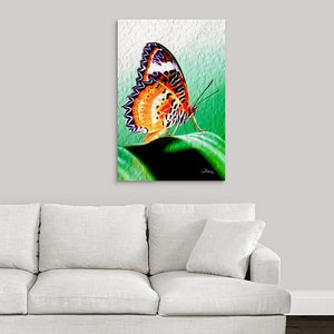 """Malay Lacewing Butterfly 2"" Fine Art Acrylic"