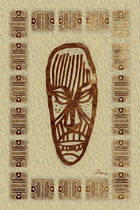 """African Mask - Rendition 2"" Fine Art Acrylic"