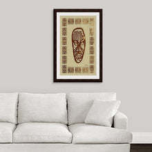 "Load image into Gallery viewer, ""African Mask - Rendition 2"" Framed Fine Art Expression"