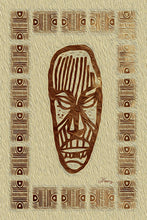 "Load image into Gallery viewer, ""African Mask - Rendition 2"" Fine Art Metal Print"