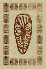 "Load image into Gallery viewer, ""African Mask - Rendition 3"" Fine Art Metal Print"