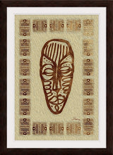 "Load image into Gallery viewer, ""African Mask - Rendition 3"" Framed Fine Art Expression"