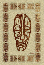 "Load image into Gallery viewer, ""African Mask - Rendition 6"" Fine Art Metal Print"