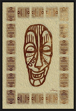 "Load image into Gallery viewer, ""African Mask - Rendition 6"" Fine Art Canvas"