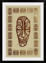 "Load image into Gallery viewer, ""African Mask - Rendition 6"" Framed Fine Art Expression"