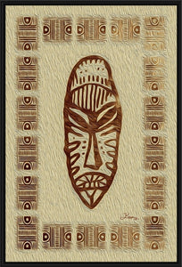 """African Mask - Rendition 4"" Fine Art Canvas"