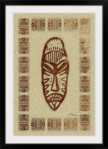 """African Mask - Rendition 4"" Framed Fine Art Expression"