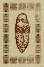 "Load image into Gallery viewer, ""African Mask - Rendition 4"" Fine Art Metal Print"