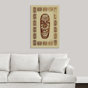 """African Mask - Rendition 5"" Fine Art Acrylic"