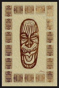 """African Mask - Rendition 5"" Fine Art Canvas"
