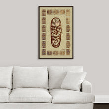 "Load image into Gallery viewer, ""African Mask - Rendition 5"" Fine Art Canvas"
