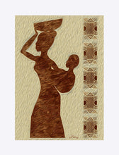 "Load image into Gallery viewer, ""African Maternal Grace 1"" Matted Fine Art Print"