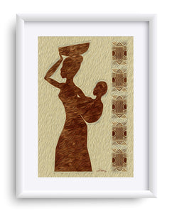 """African Maternal Grace 1"" Matted Fine Art Print"