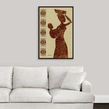 "Load image into Gallery viewer, ""African Maternal Grace 2"" Fine Art Canvas"