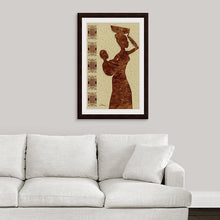 "Load image into Gallery viewer, ""African Maternal Grace 2"" Framed Fine Art Expression"