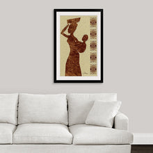 "Load image into Gallery viewer, ""African Maternal Grace 1"" Fine Art Canvas"