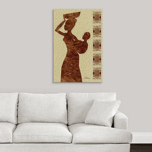"""African Maternal Grace 1"" Fine Art Metal Print"