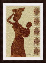 "Load image into Gallery viewer, ""African Maternal Grace 1"" Framed Fine Art Expression"