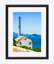 "Load image into Gallery viewer, ""Old Building at Alcatraz Island Prison"" Matted Fine Art Print"