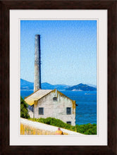 "Load image into Gallery viewer, ""Old Building at Alcatraz Island Prison"" Framed Fine Art Expression"