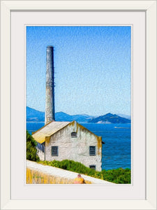 """Old Building at Alcatraz Island Prison"" Framed Fine Art Expression"