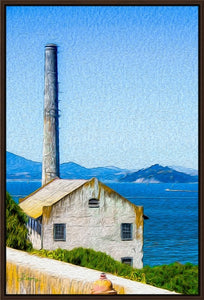 """Old Building at Alcatraz Island Prison"" Fine Art Canvas"