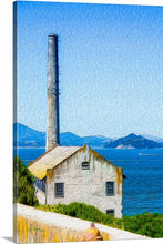 "Load image into Gallery viewer, ""Old Building at Alcatraz Island Prison"" Fine Art Canvas"